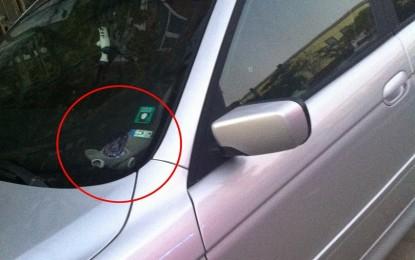 СКАНДАЛНО!  Бивш шеф от благоевградската полиция със стикер на МВР, паркира където си иска!