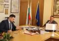 Кметът на община Благоевград д-р Камбитов и част от екипа му на работна среща в Европейски парламент в Брюксел