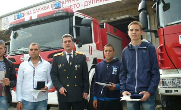 Вицепремиерът Бъчварова награди спасителите от Усойка